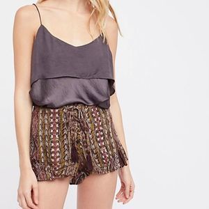 Free People boho printed lightweight fabric shorts